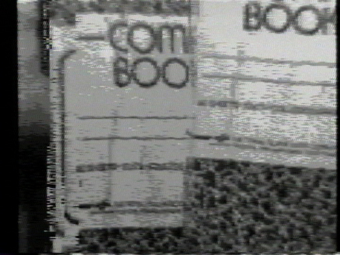 Peer Bode video still from Comp Book Updates 1981