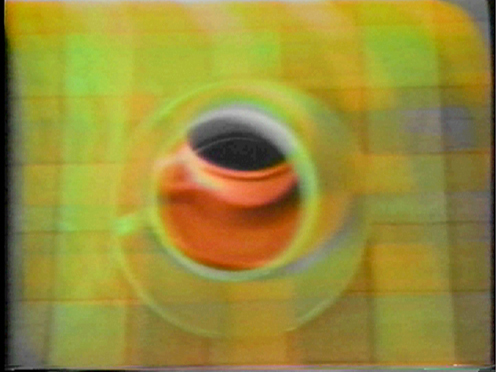 Peer Bode video still from Cup Mix (2 channels) 1977