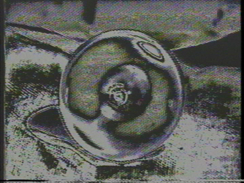 Peer Bode video still from Floodlight Notes 1982