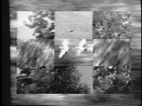 Peer Bode video still from Landscape 3 x 3 x 16 x 3 1984
