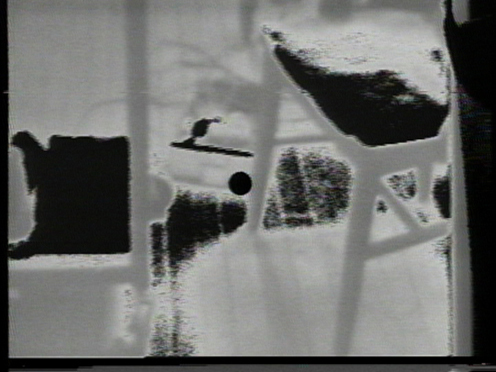 Peer Bode video still from Music on Triggering Surfaces 1978