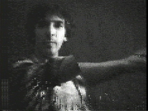 Peer Bode video still from Neil Punches Pixels 1981