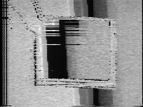 Peer Bode video still from Rectangle Update 1981