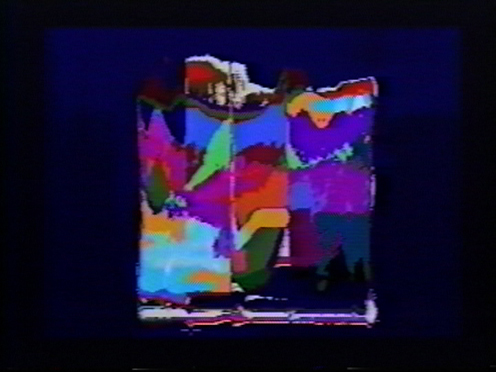 Peer Bode video still from Synthetic Series: Digital Rhetoric's 1986